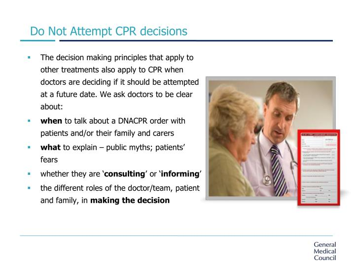 Do Not Attempt CPR decisions
