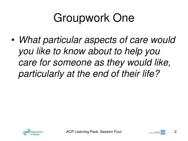 ACP Learning Pack. Session Four