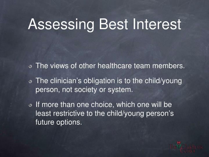Assessing Best Interest
