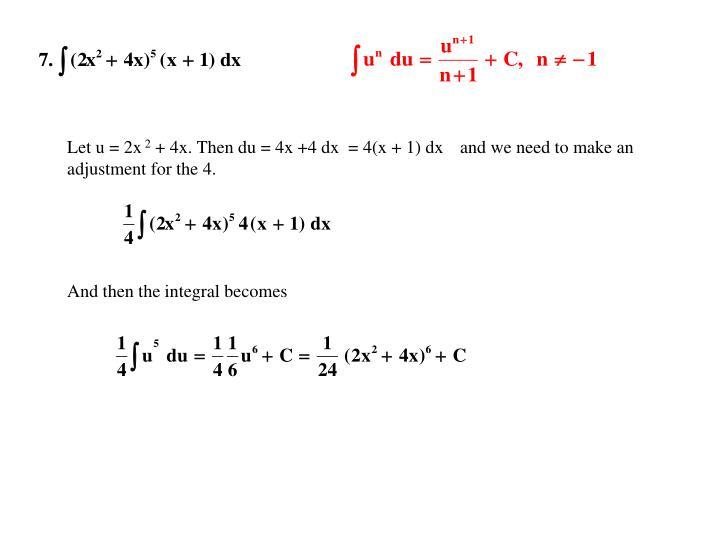 Let u = 2x
