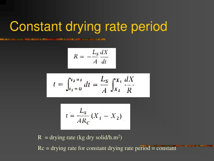 Constant drying rate period