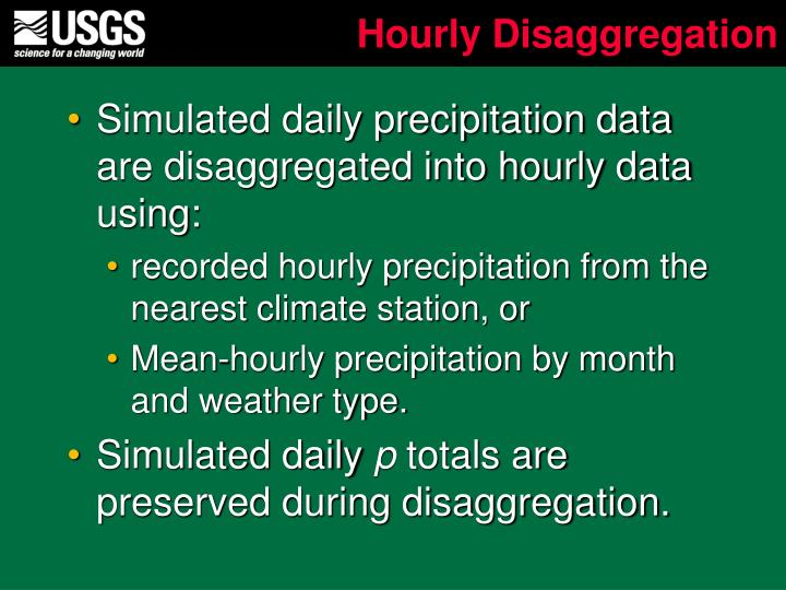 Hourly Disaggregation