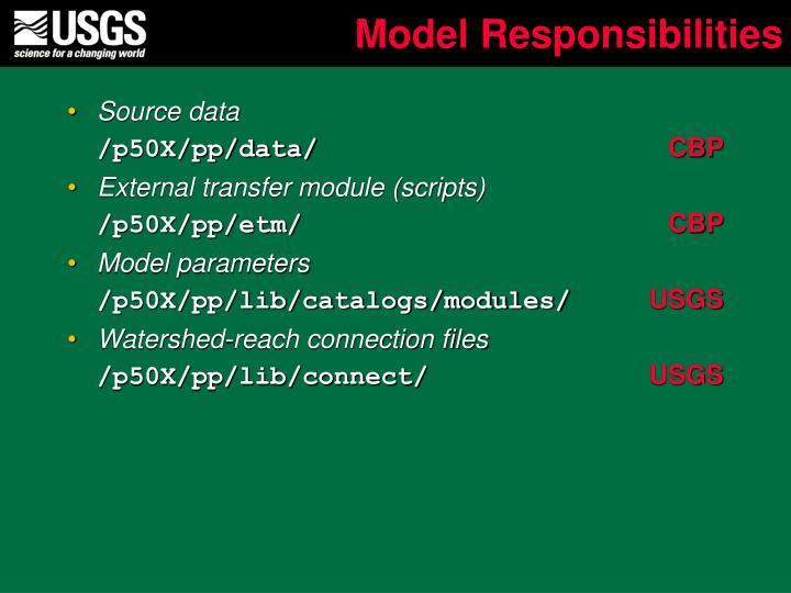 Model Responsibilities