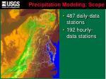 precipitation modeling scope1