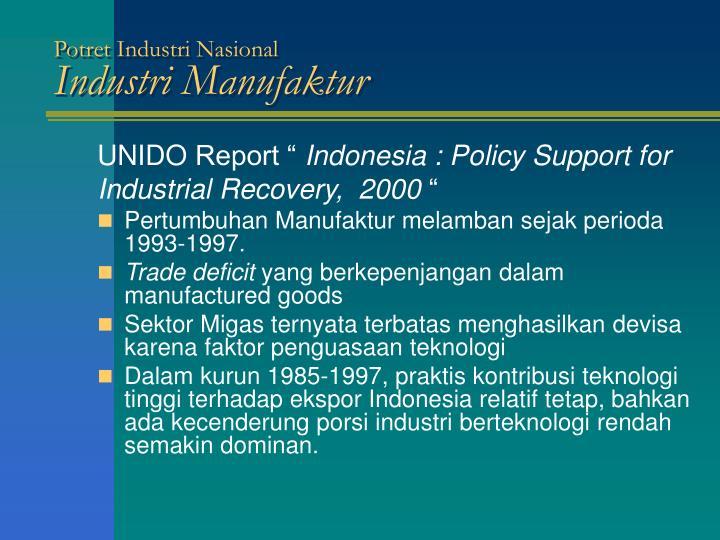 Potret Industri Nasional