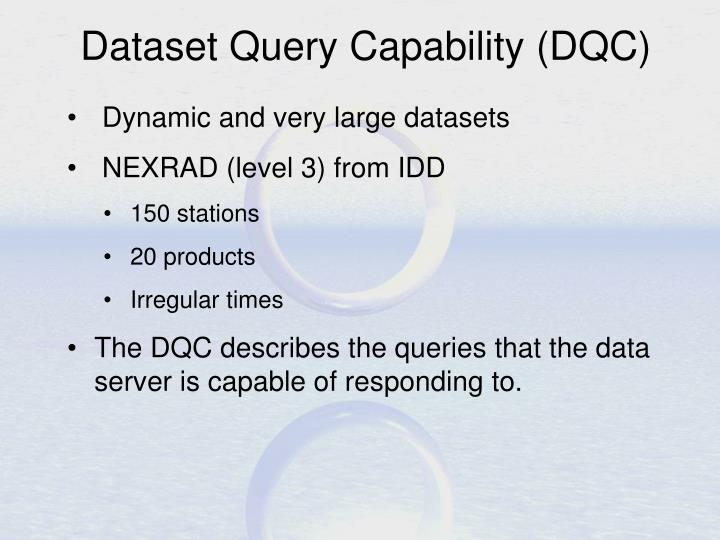 Dataset Query Capability (DQC)