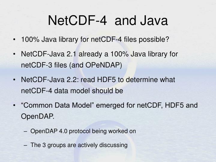 NetCDF-4  and Java