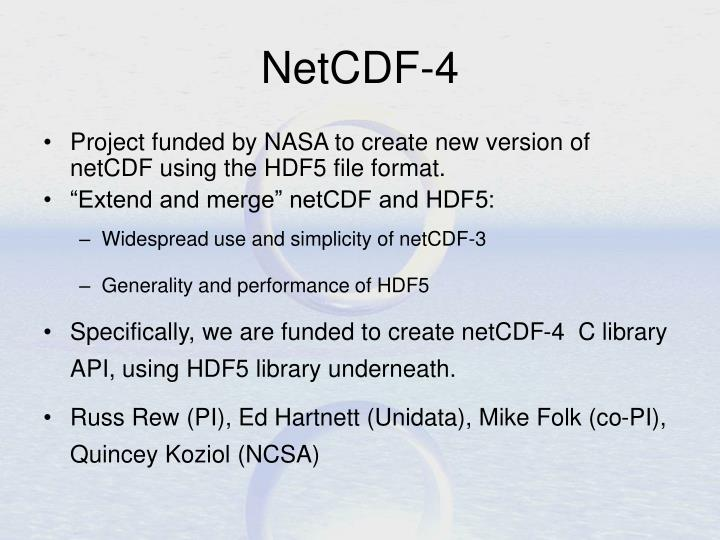 NetCDF-4