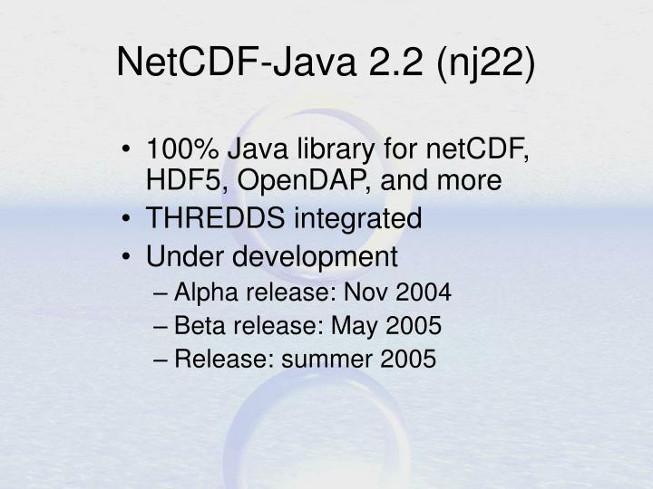 NetCDF-Java 2.2 (nj22)