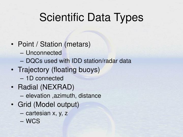 Scientific Data Types