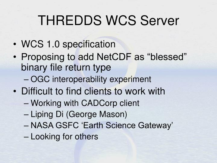 THREDDS WCS Server