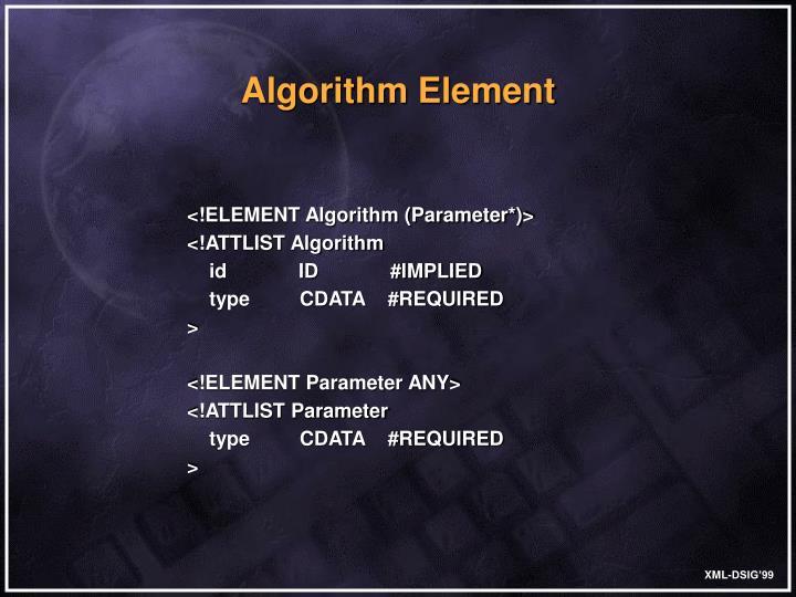Algorithm Element