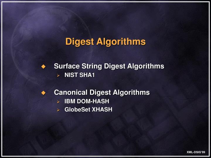 Digest Algorithms