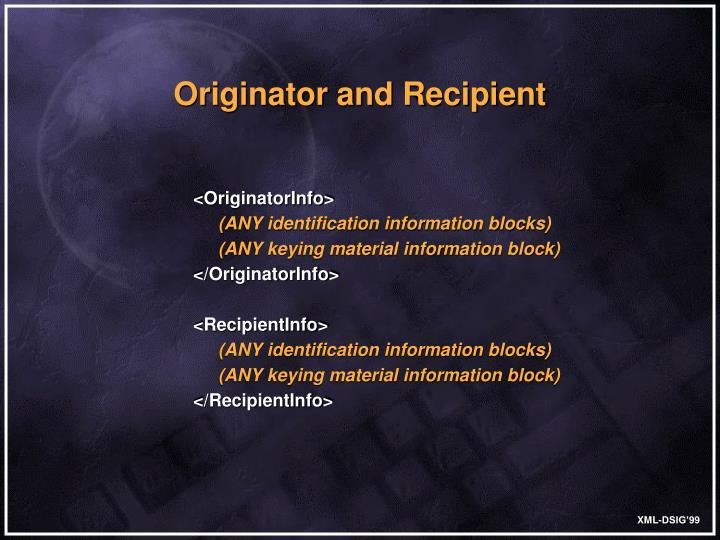 <OriginatorInfo>
