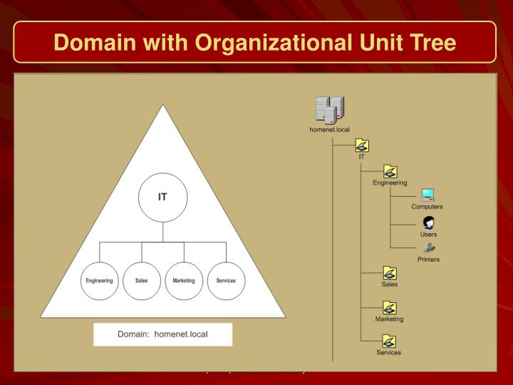 Domain with Organizational Unit Tree