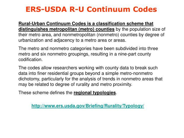 ERS-USDA R-U Continuum Codes