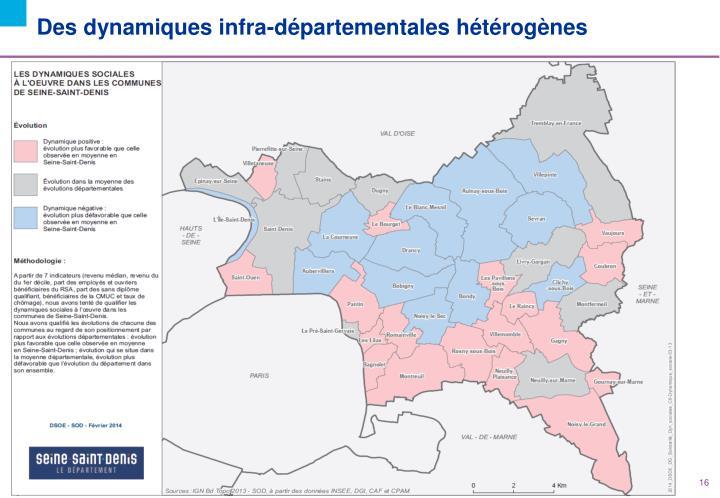 Des dynamiques infra-départementales hétérogènes