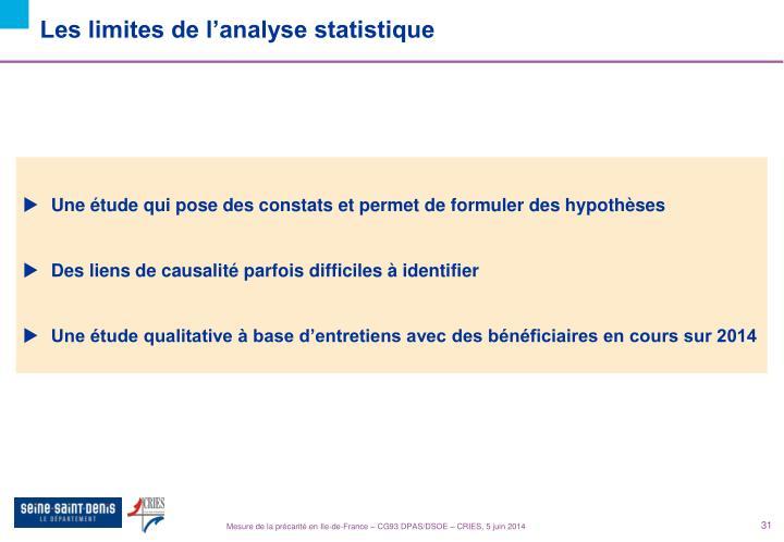 Les limites de l'analyse statistique