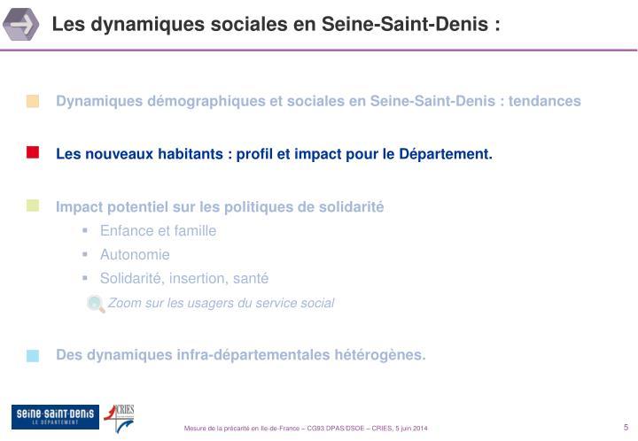 Les dynamiques sociales en Seine-Saint-Denis :