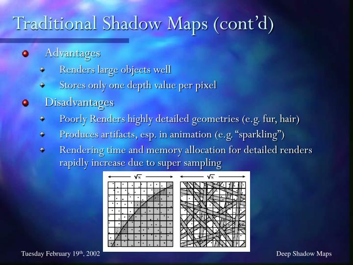 Traditional Shadow Maps (cont'd)