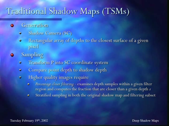 Traditional Shadow Maps (TSMs)