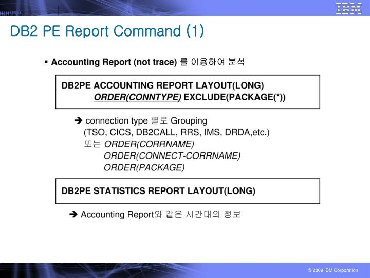 DB2 PE Report Command (1)
