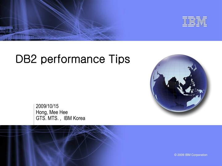 Db2 performance tips