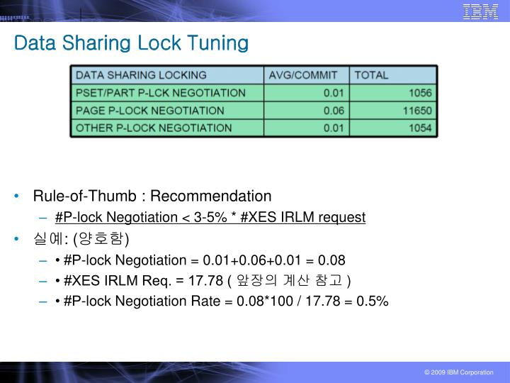 Data Sharing Lock Tuning