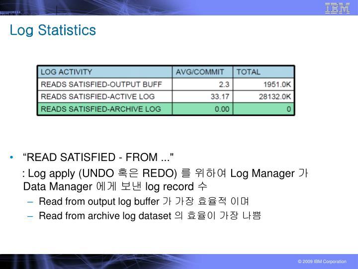 Log Statistics