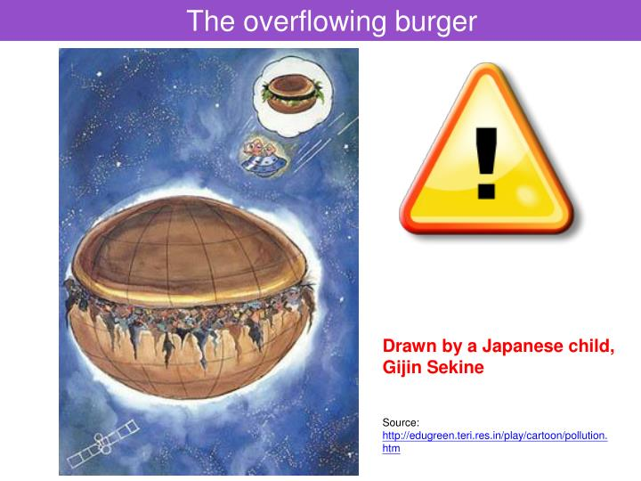 The overflowing burger