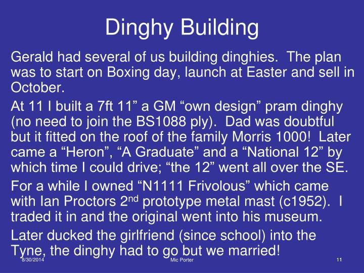 Dinghy Building