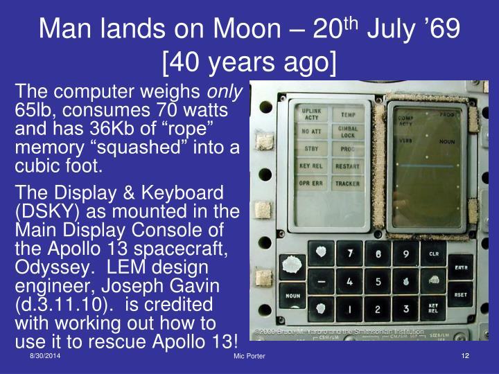 Man lands on Moon – 20