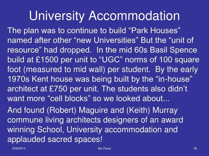 University Accommodation