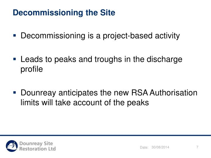 Decommissioning the Site