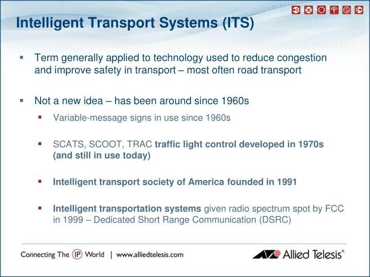 Intelligent transport systems its