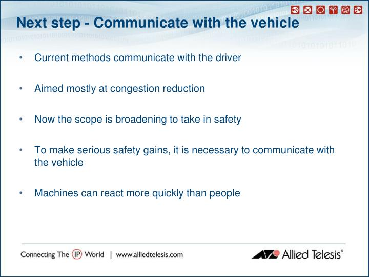 Next step - Communicate with the vehicle