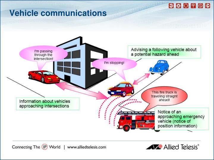 Vehicle communications