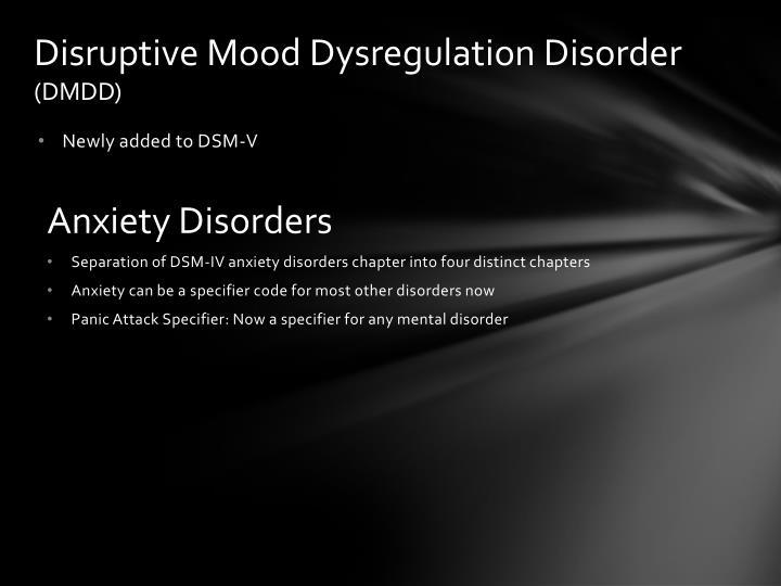 Disruptive Mood