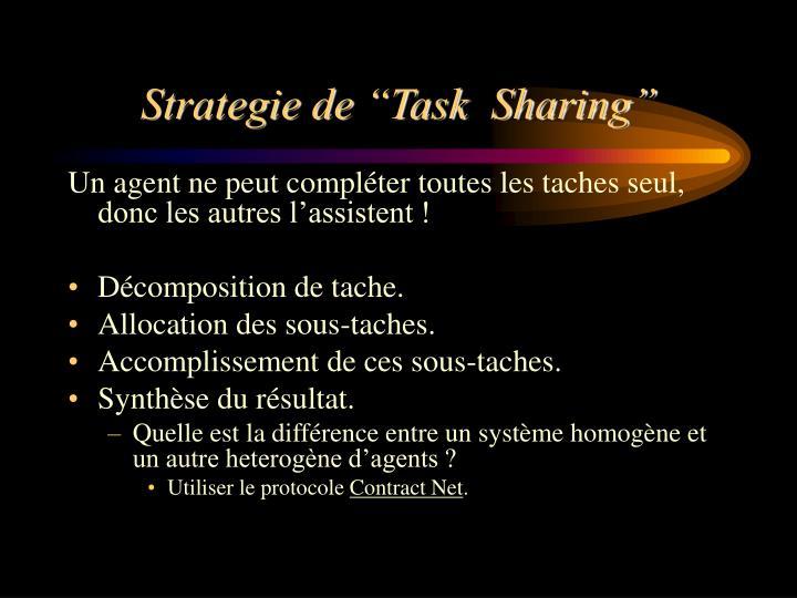 """Strategie de """"Task  Sharing"""""""