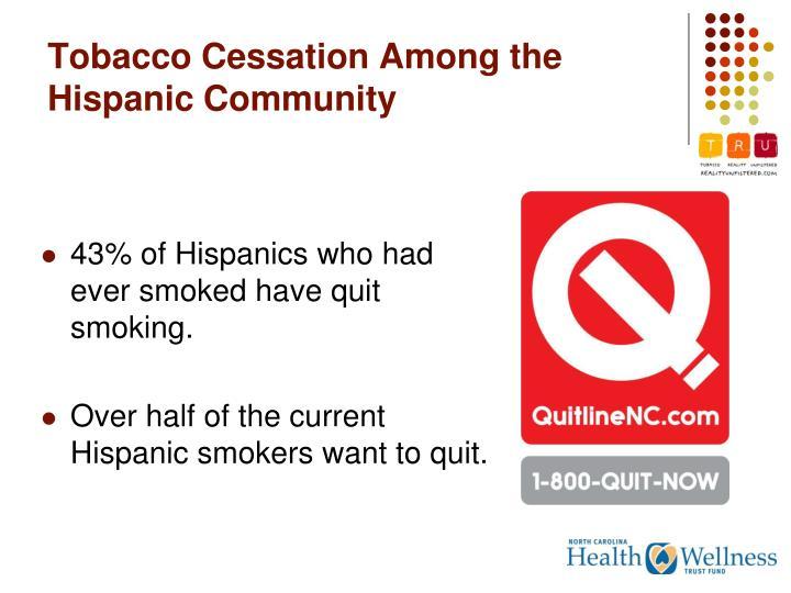 Tobacco Cessation Among the Hispanic Community