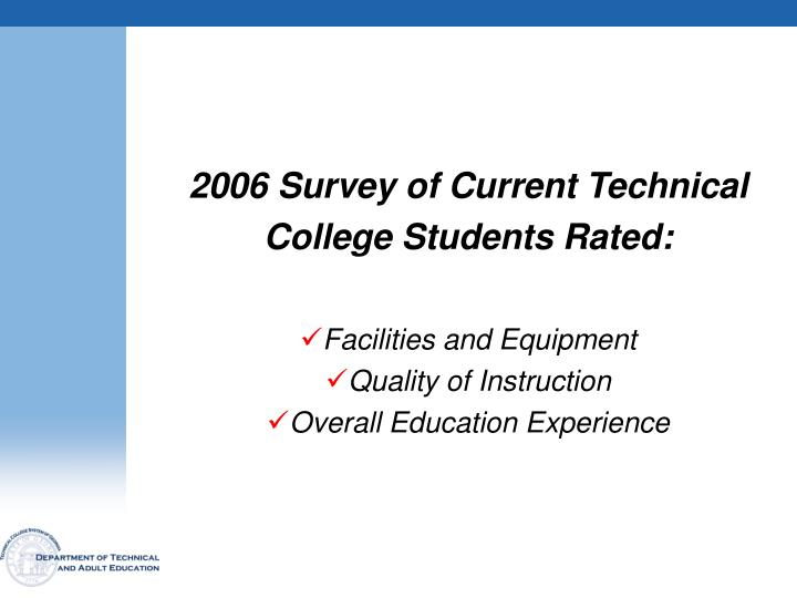 2006 Survey of Current Technical
