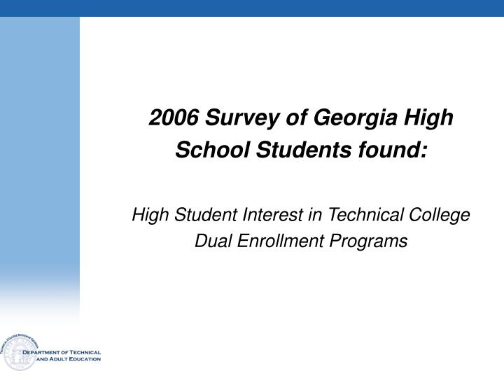 2006 Survey of Georgia High
