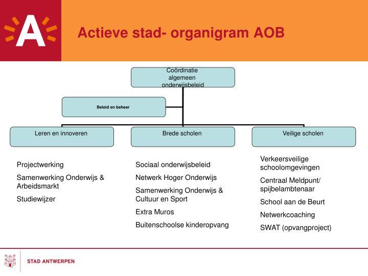 Actieve stad- organigram AOB