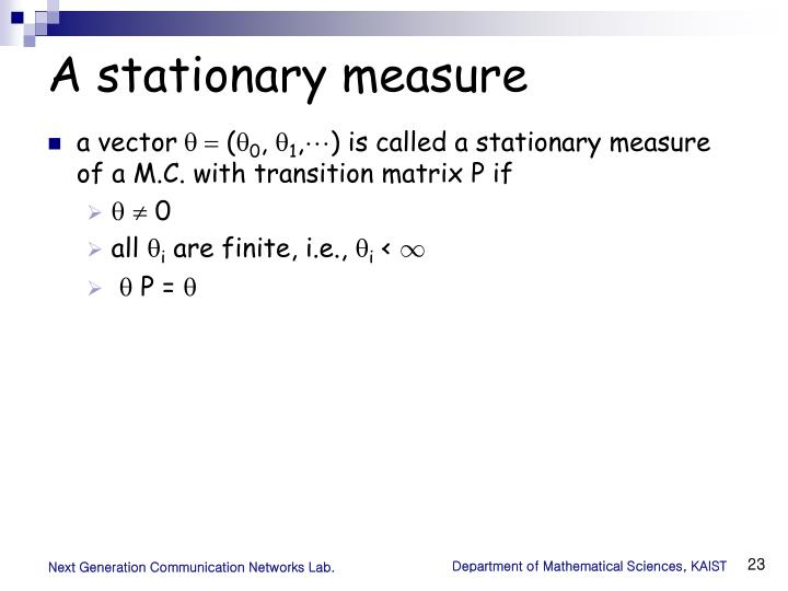 A stationary measure
