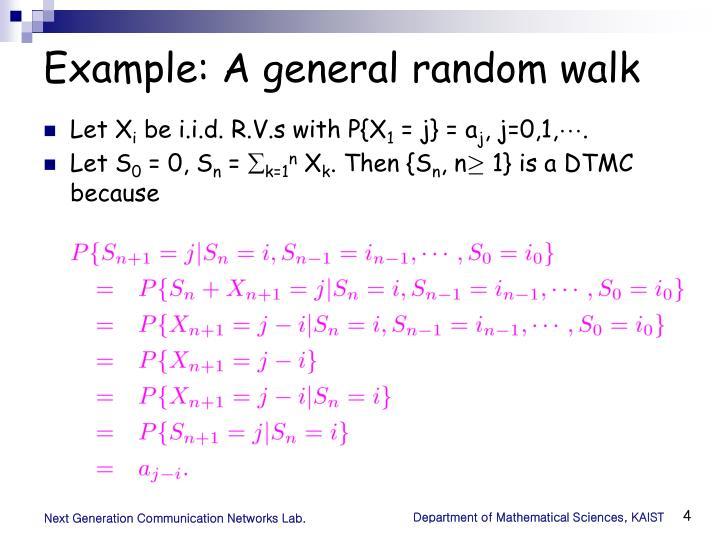 Example: A general random walk