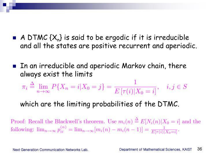 A DTMC {X
