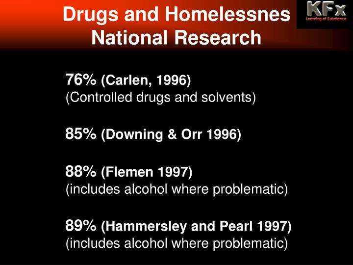 Drugs and Homelessnes