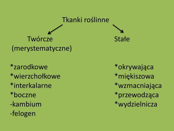 Tkanki roślinne