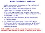 model evaluation conclusions