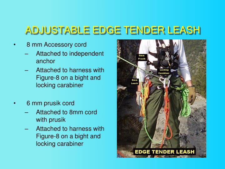 ADJUSTABLE EDGE TENDER LEASH